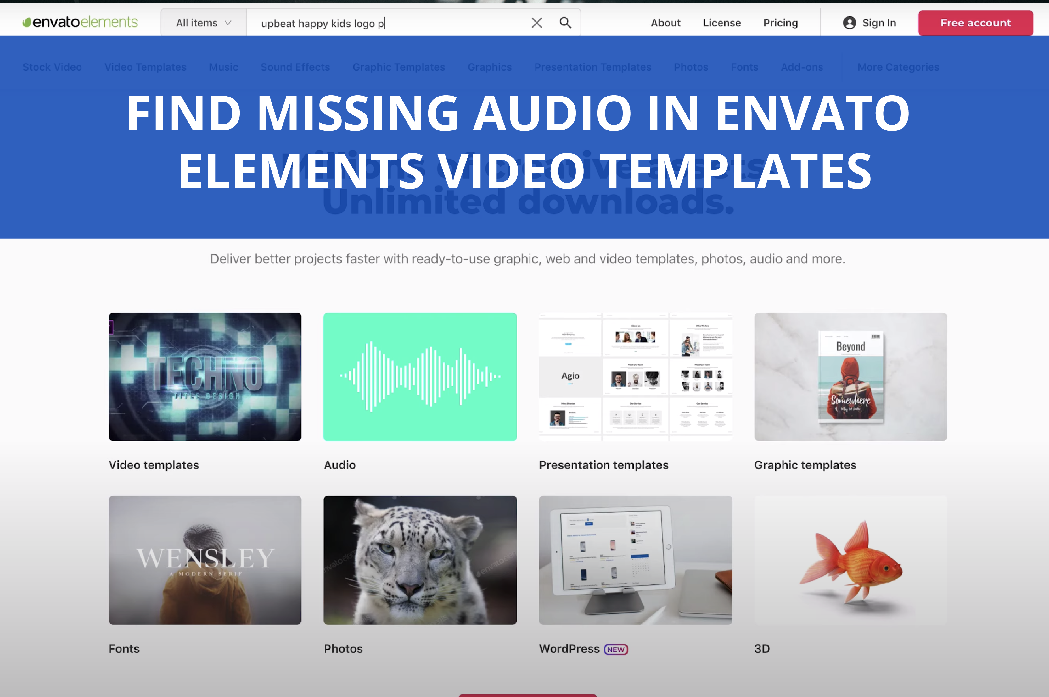 3 Quick Steps For Envato Users To Find The Missing Audio In Elements Video Templates ⏱️