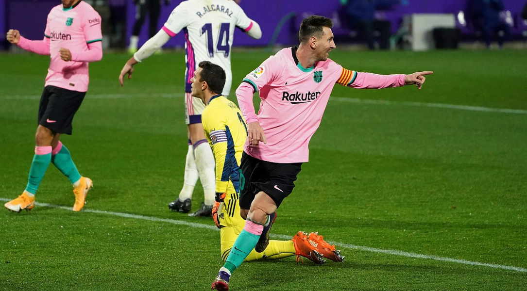 Lionel Messi Scores against Real Valladolid and breaks Pele's Record