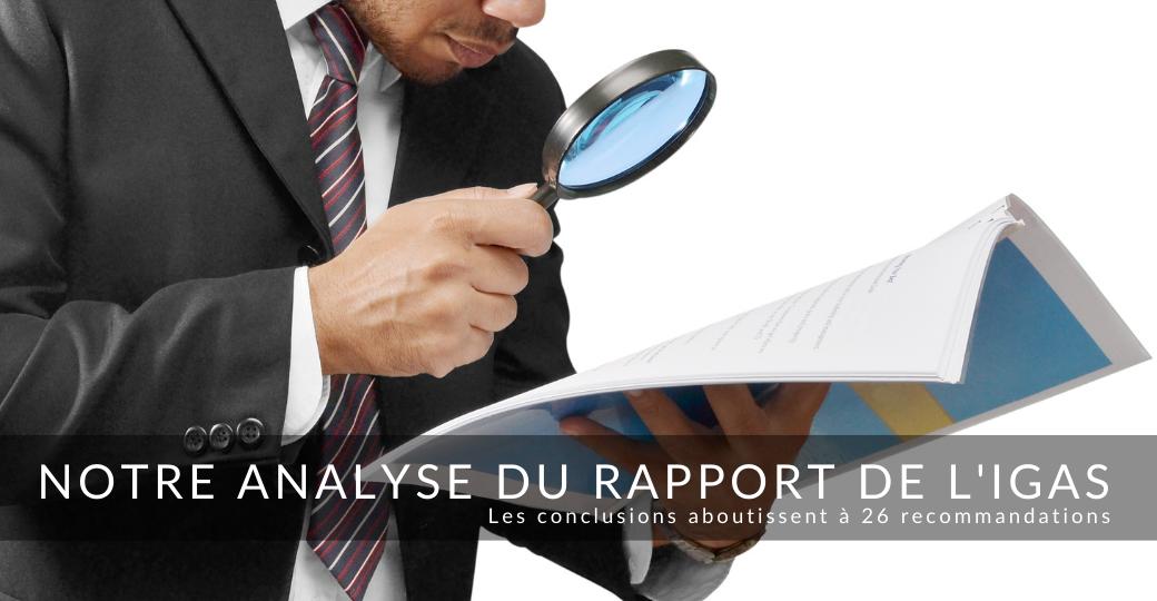 Communication du CNPMEM sur son analyse du rapport de l'IGAS