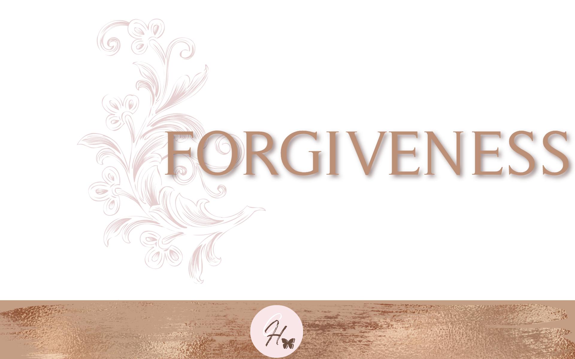 Forgiveness - Bible Study Guide