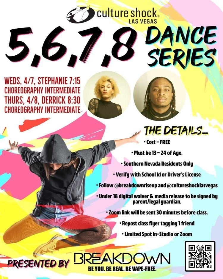 5,6,7,8 Dance Series sponsored by Breakdown