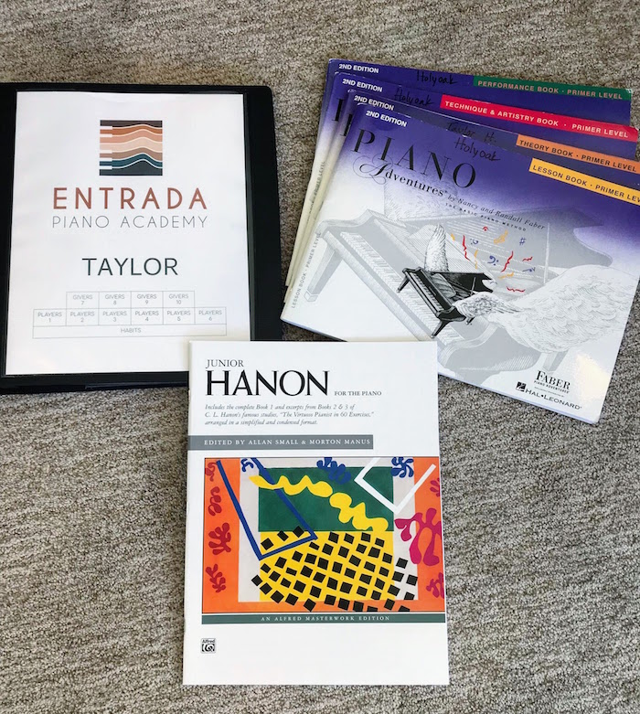 Materials to Bring to Lessons