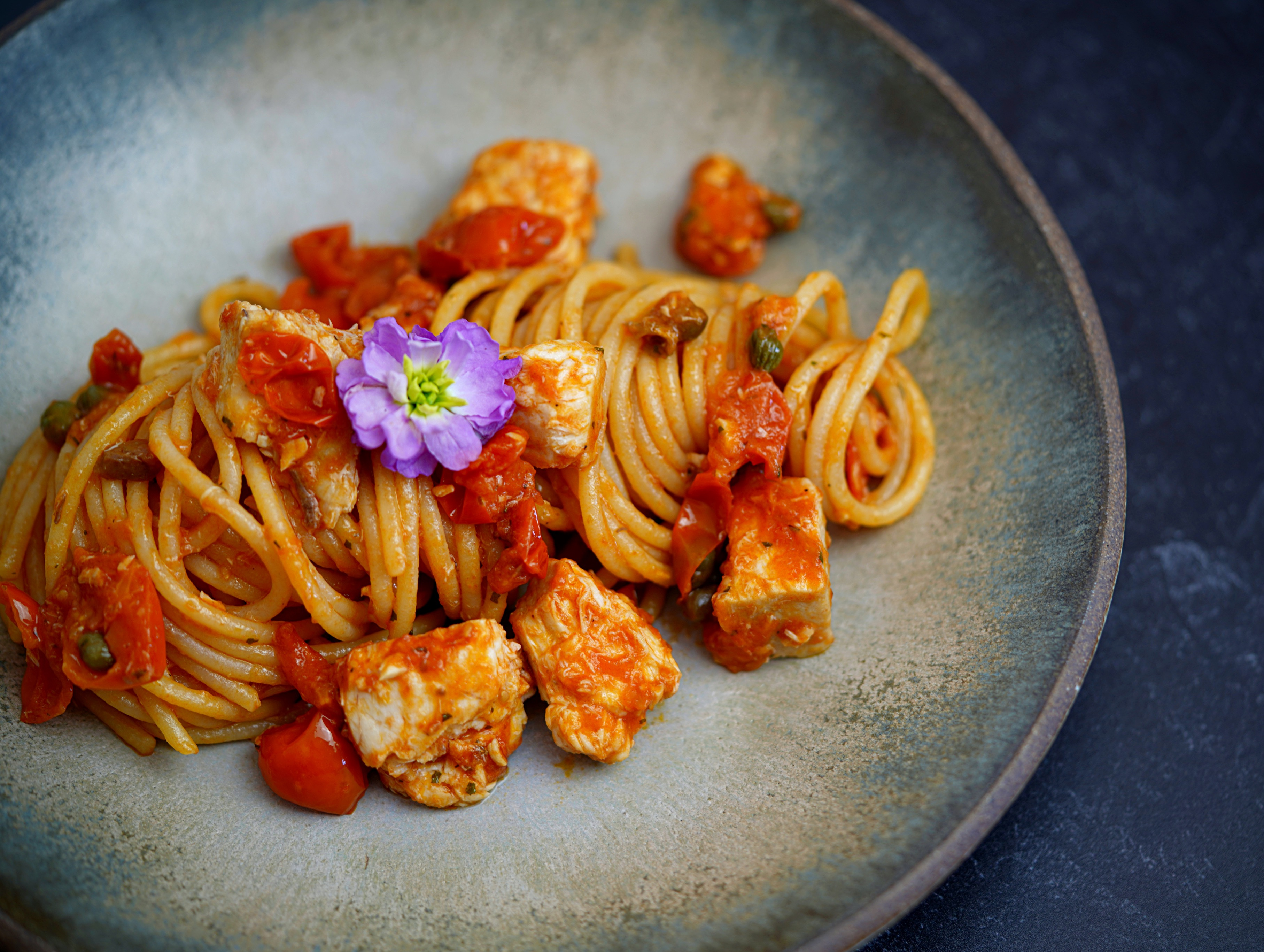 Spaghetti with Swordfish