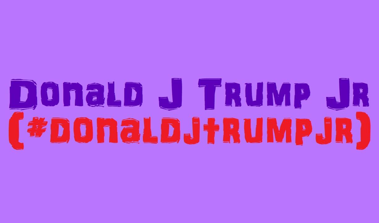 Video for #donaldjtrumpjr
