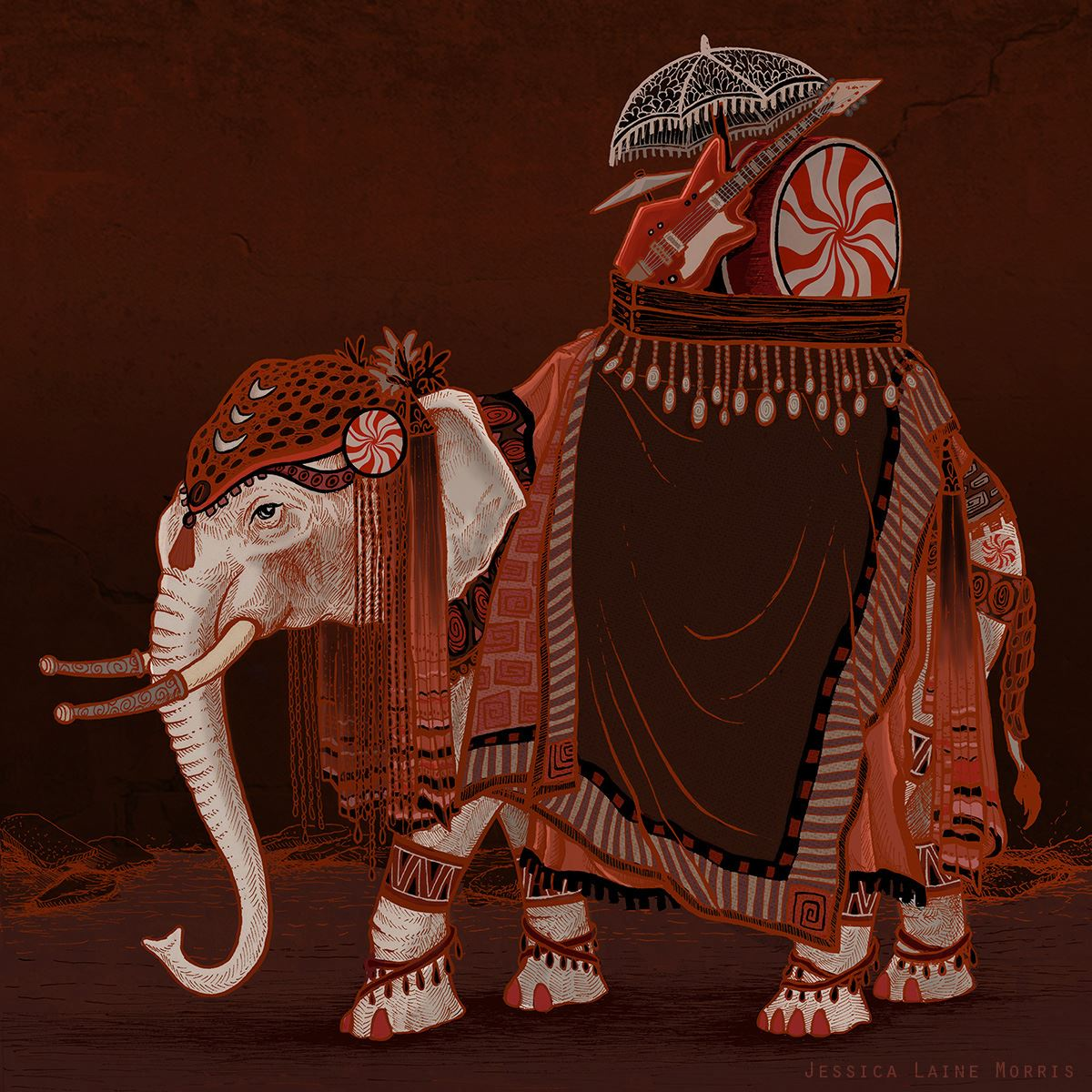 The White Stripes Elephant Album Cover Illustration