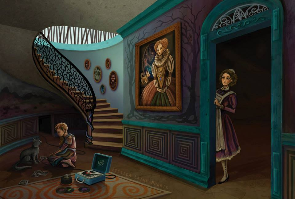 Dark Fantasy Dream Concept Art. Children's book fantasy illustration.