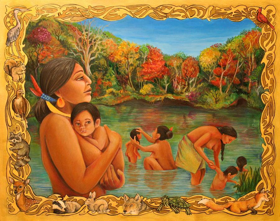 Storybook artwork. Illustrator Indianapolis Indiana. Miami Indian Tribe. Native Americans.