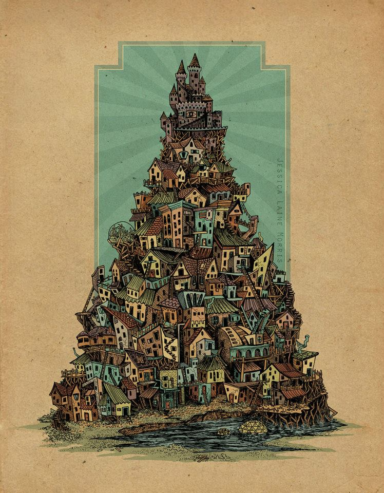 Illustrator Indianapolis Indiana. Editorial illustration of poverty and social class.