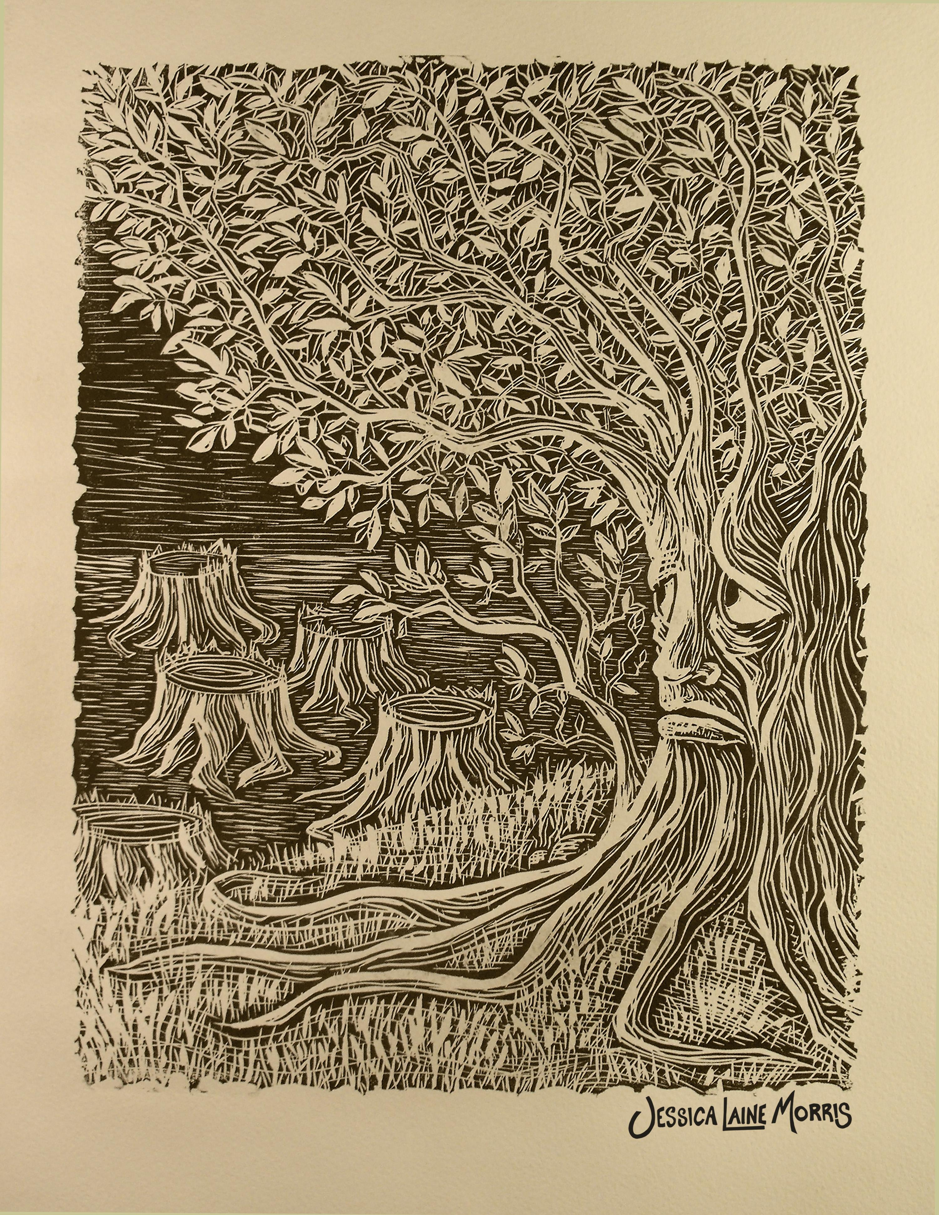 Deforestation Editorial Illustration.