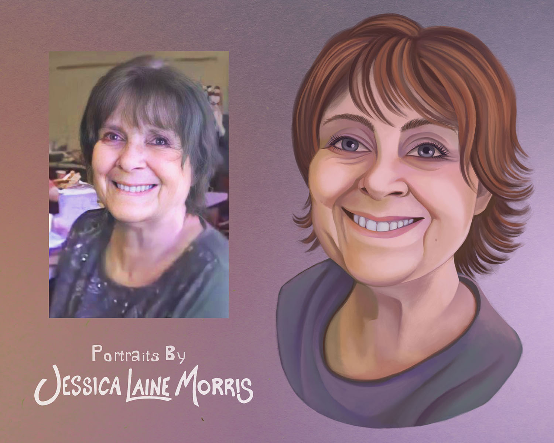 Digital Profile Picture Portrait Painting Illustration Drawing