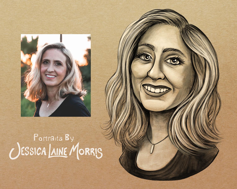 Digital Caricature Portrait Sketch Art