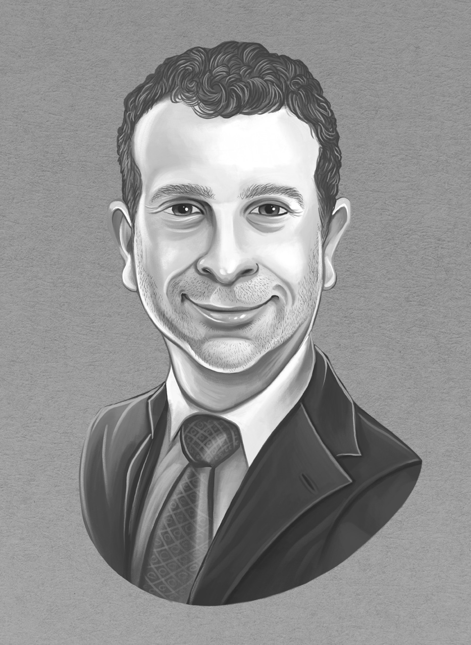 Corporate Headshot Digital Caricature Portrait Art Drawing by Indianapolis, Indiana Artist Jessica Laine Morris.