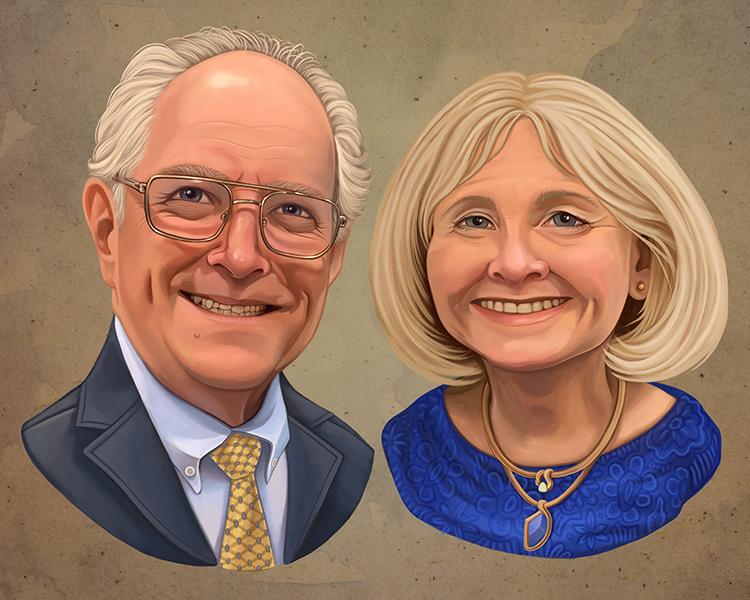 Couple Portraits Gift Illustration