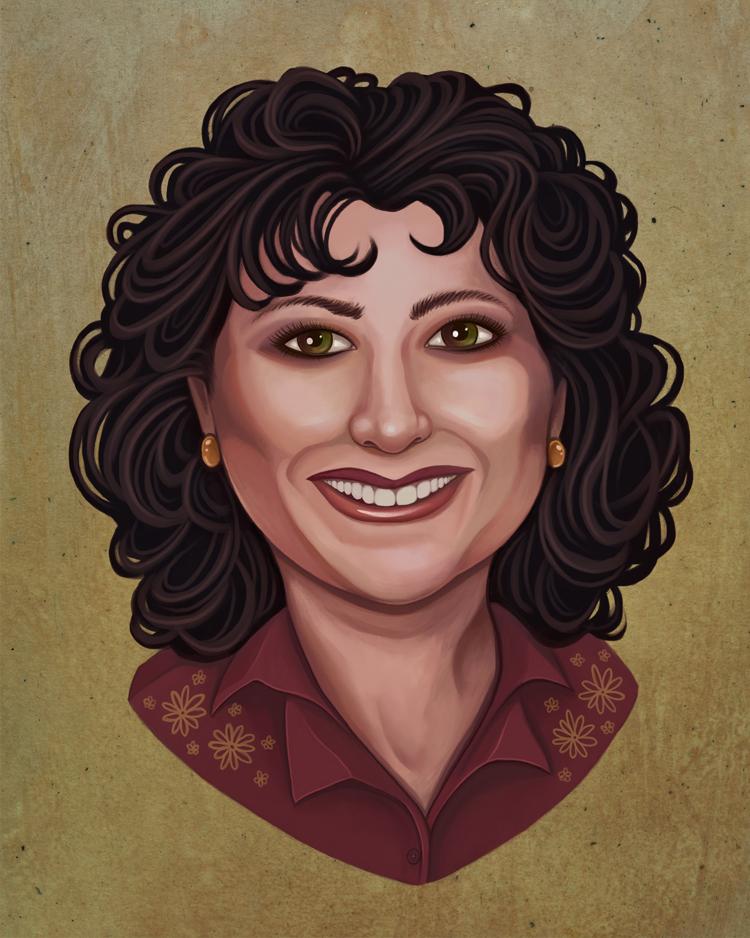 Digital Profile Picture Portrait Painting Illustration