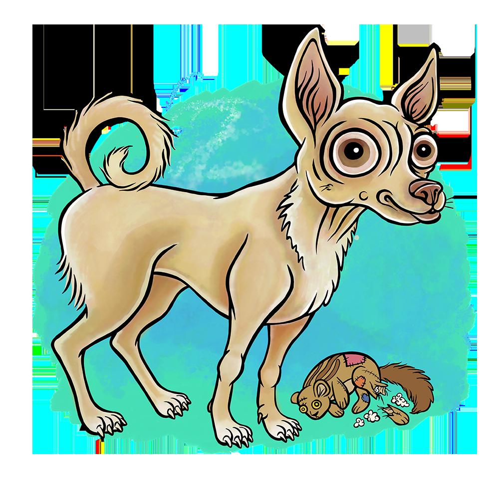 Chihuahua Dog Cartoon Illustration Logo Graphic by Jessica Laine Morris