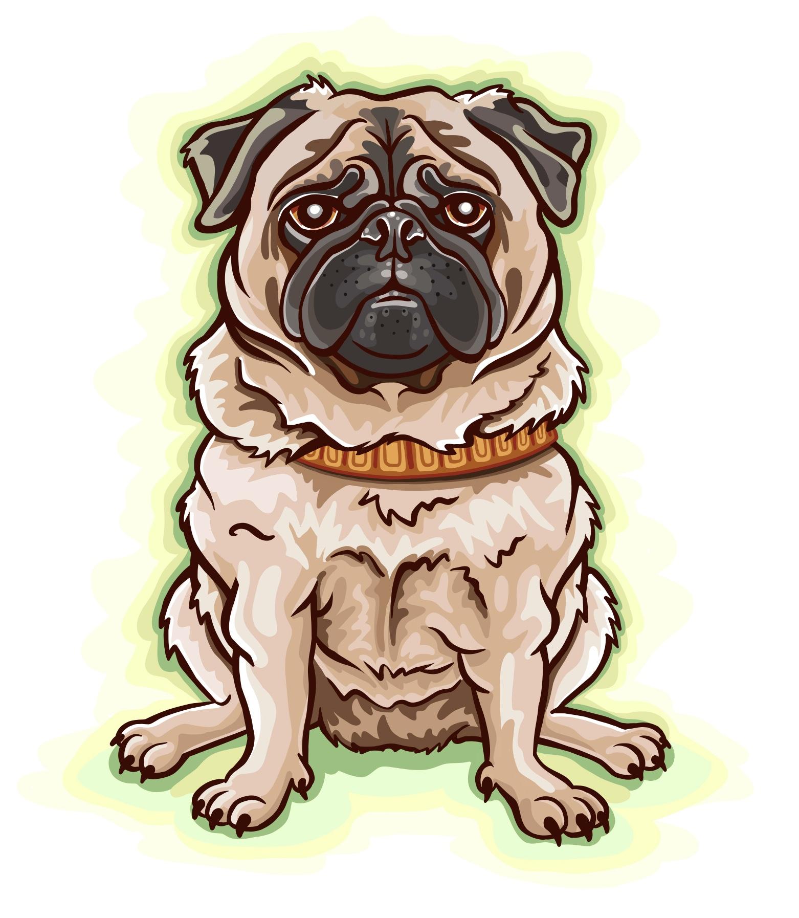 Pug Dog Cartoon Illustration Logo Graphic by Jessica Laine Morris