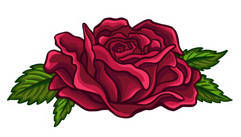 Bold Floral Red Rose Cartoon Illustration Logo Graphic by Jessica Laine Morris Indiana