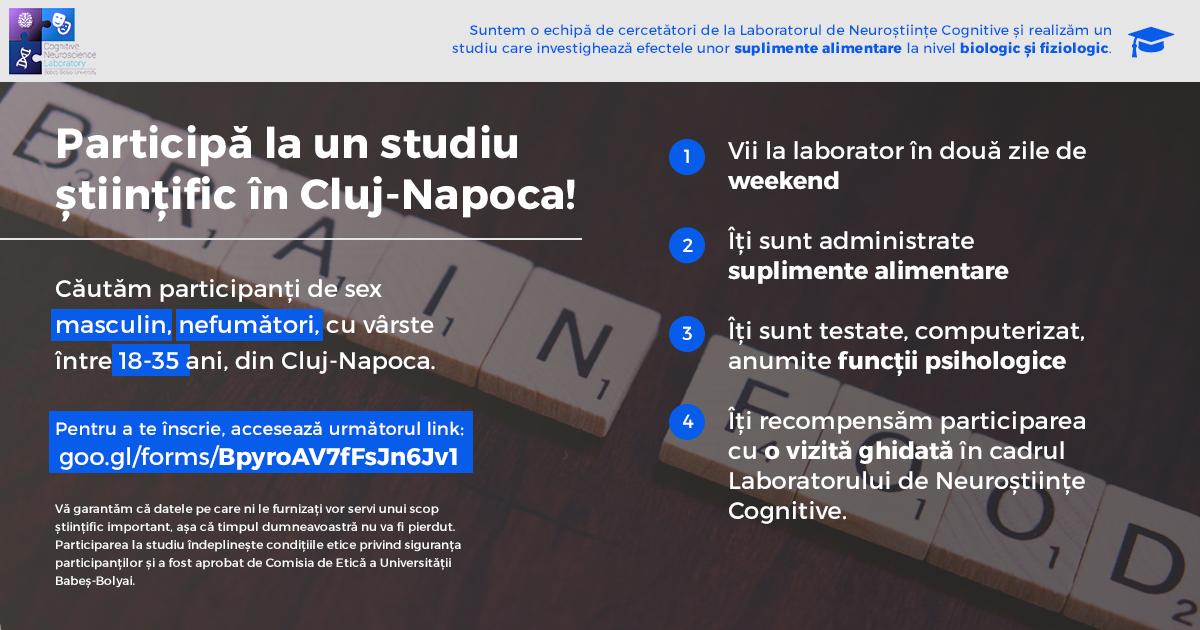 Un nou studiu in Cluj-Napoca [RO]