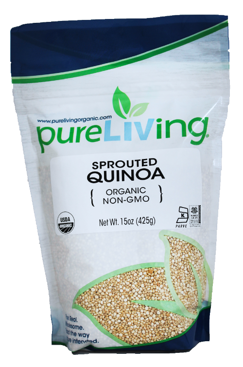 Whole-food, plant-based, sos-free recipe ingredient sprouted quinoa