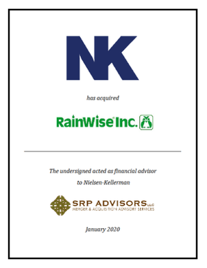 SRP Advisors, LLC Represents Nielsen-Kellerman in the Acquisition of Rainwise, Inc.