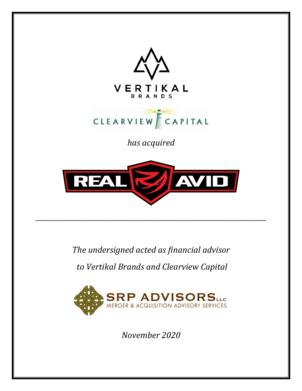 SRP Advisors Represents Vertikal Brands in Acquisition of Real Avid