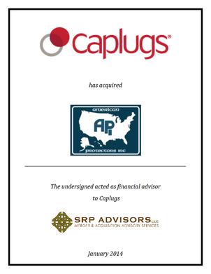 SRP Advisors, LLC Represents Protective Industries, Inc. (d/b/a Caplugs) in Acquisition of American Protectors Inc.