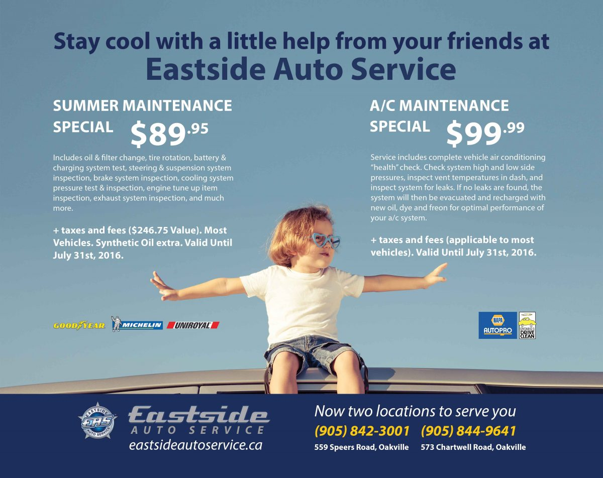 Stay Cool With Our A/C and Summer Maintainence Specials