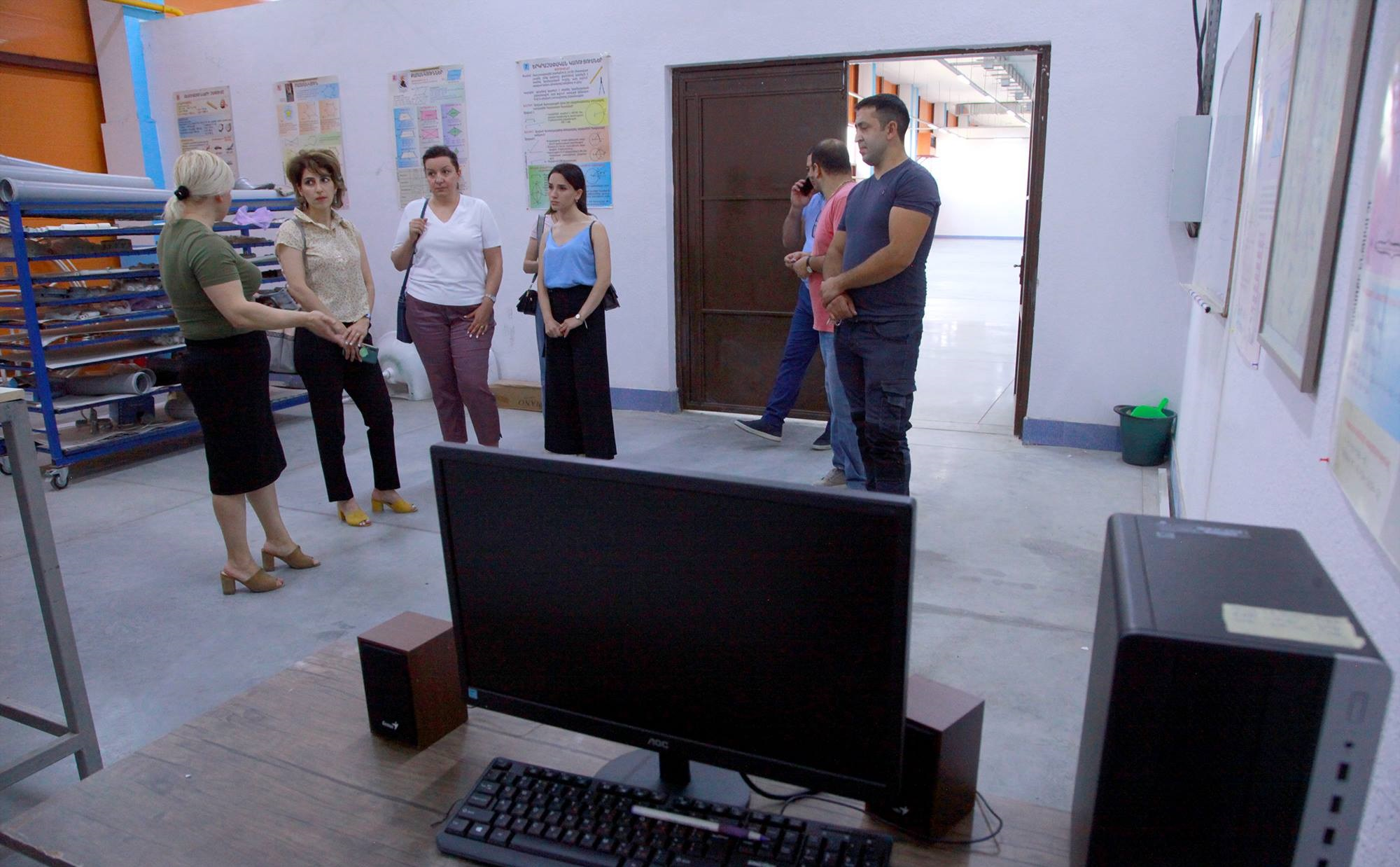 Tufenkian Donates Computers, Projectors, and Other Technical Equipment to Artsakh's Yeznik Mozian Vocational School