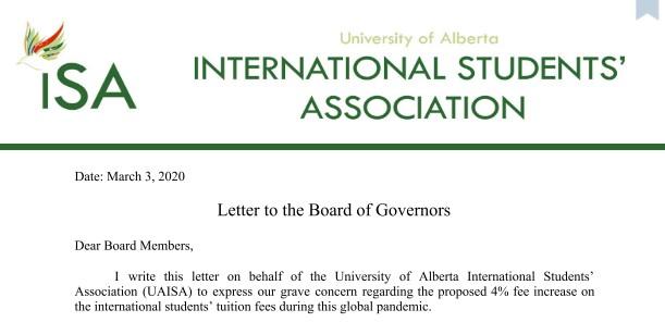 ISA's president's letter