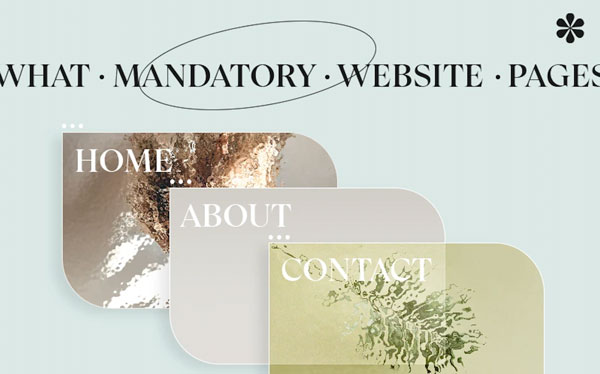 What Mandatory Website Pages Do You Need For a New Site?