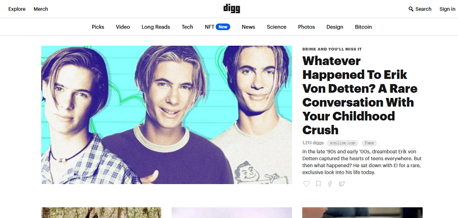 advertise your website free on Digg