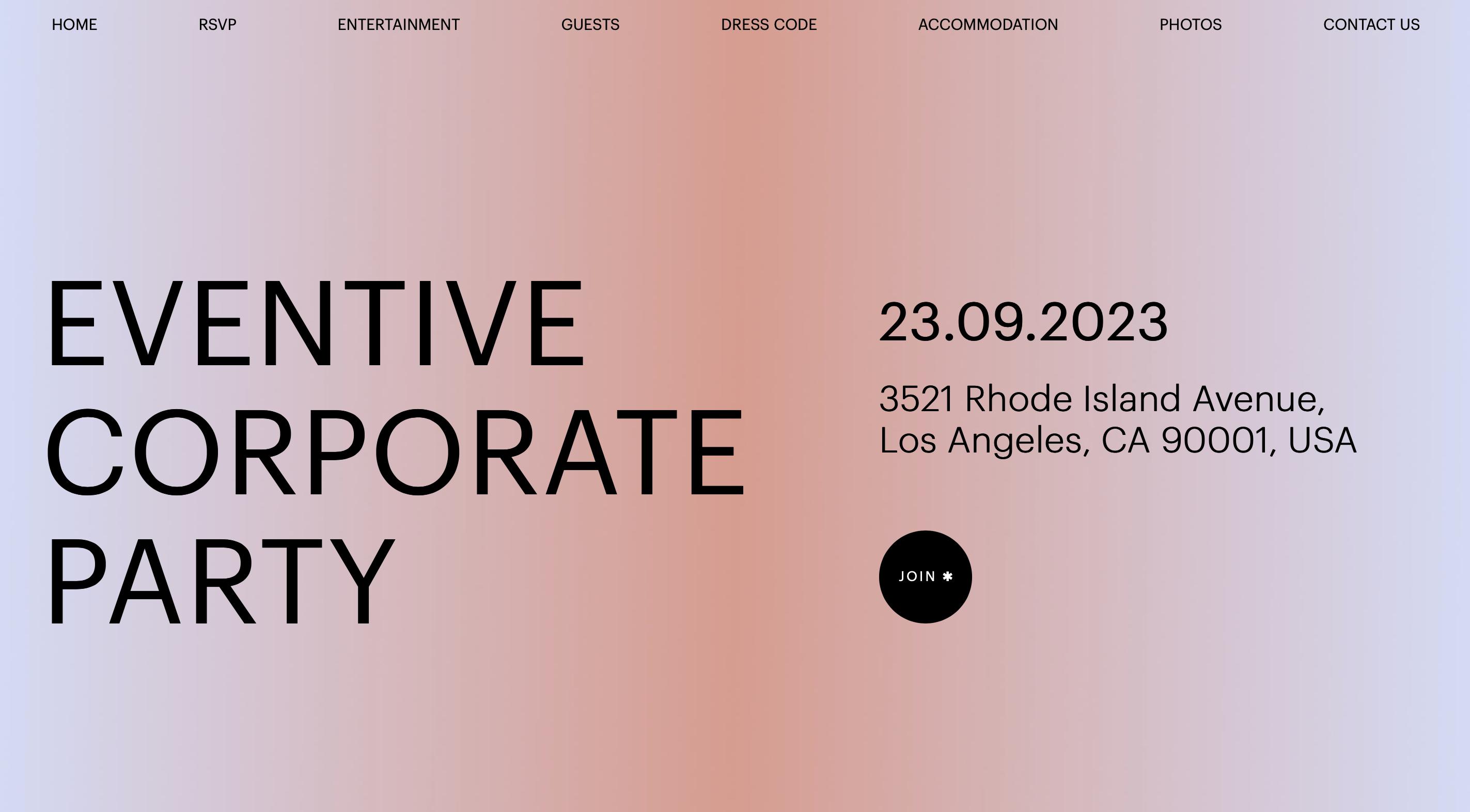Eventive-event website template-ucraft