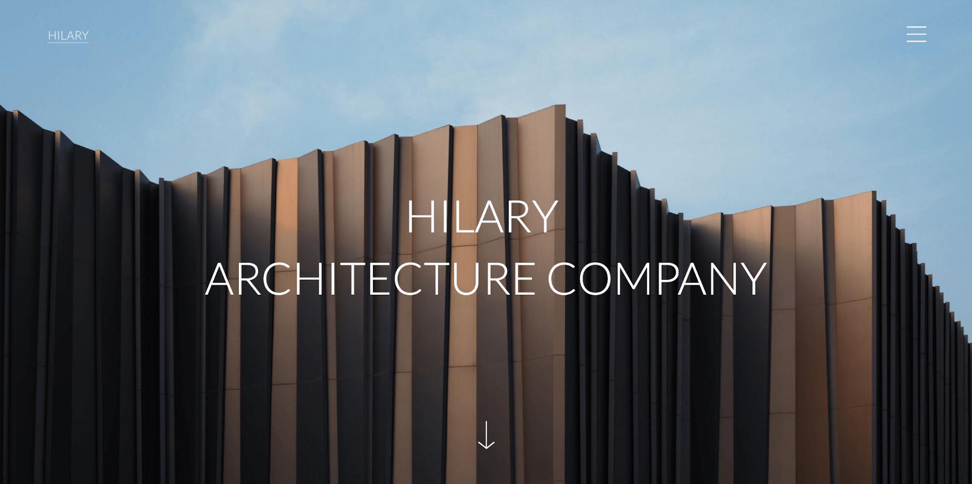 Hilary-architecture website template-ucraft