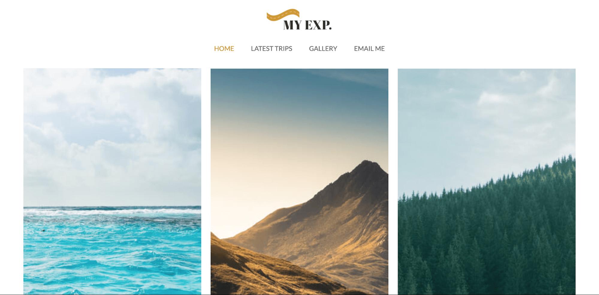 Myexp-tourism website template-ucraft