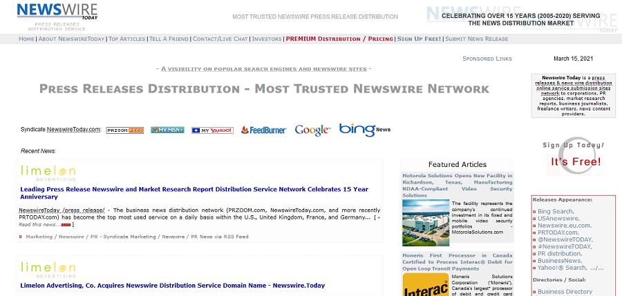 Free business advertising on Newswiretoday