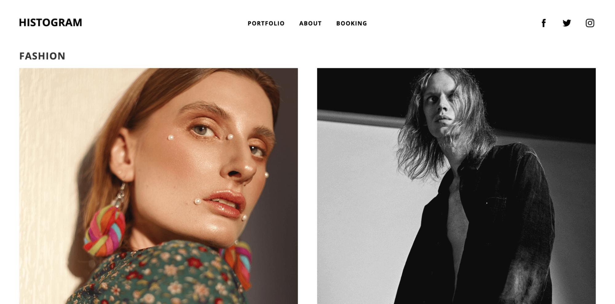 histogram-photography website