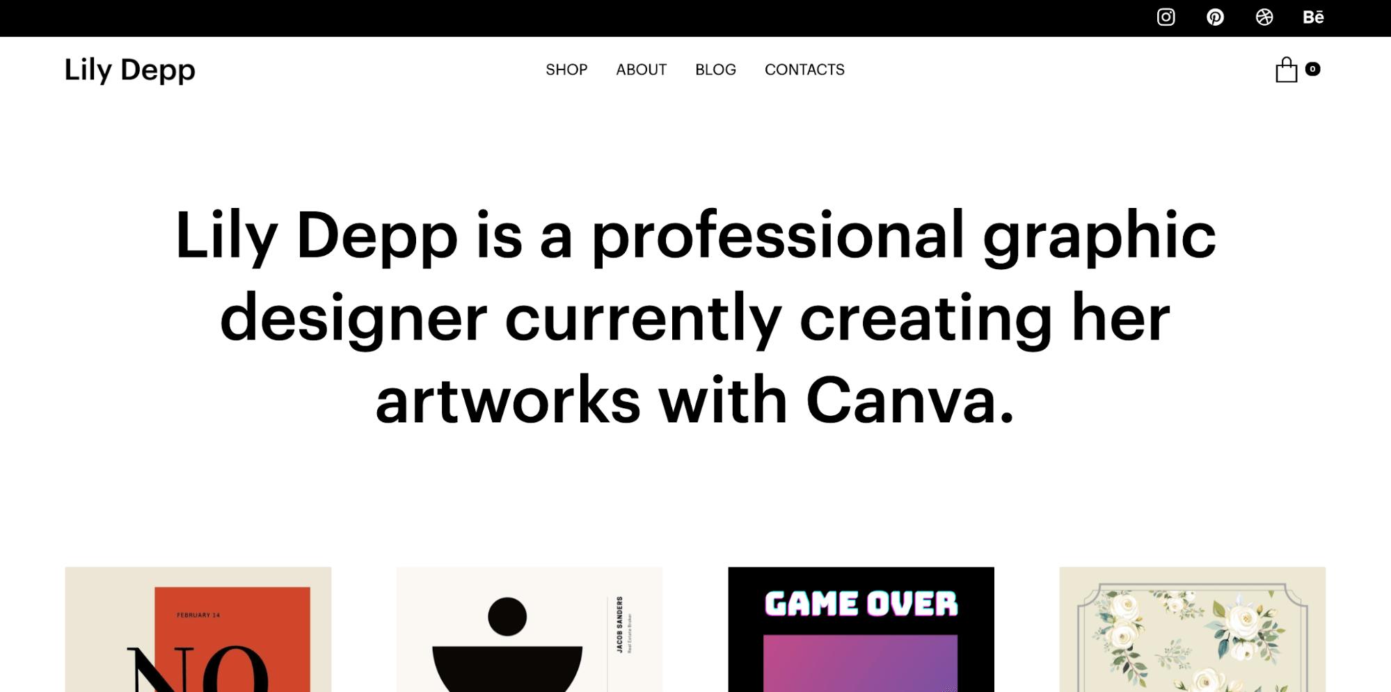 Postershop-freelance website template-ucraft