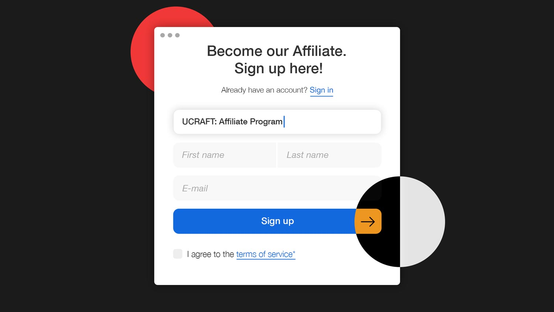 Sign up-ucraft affiliate program