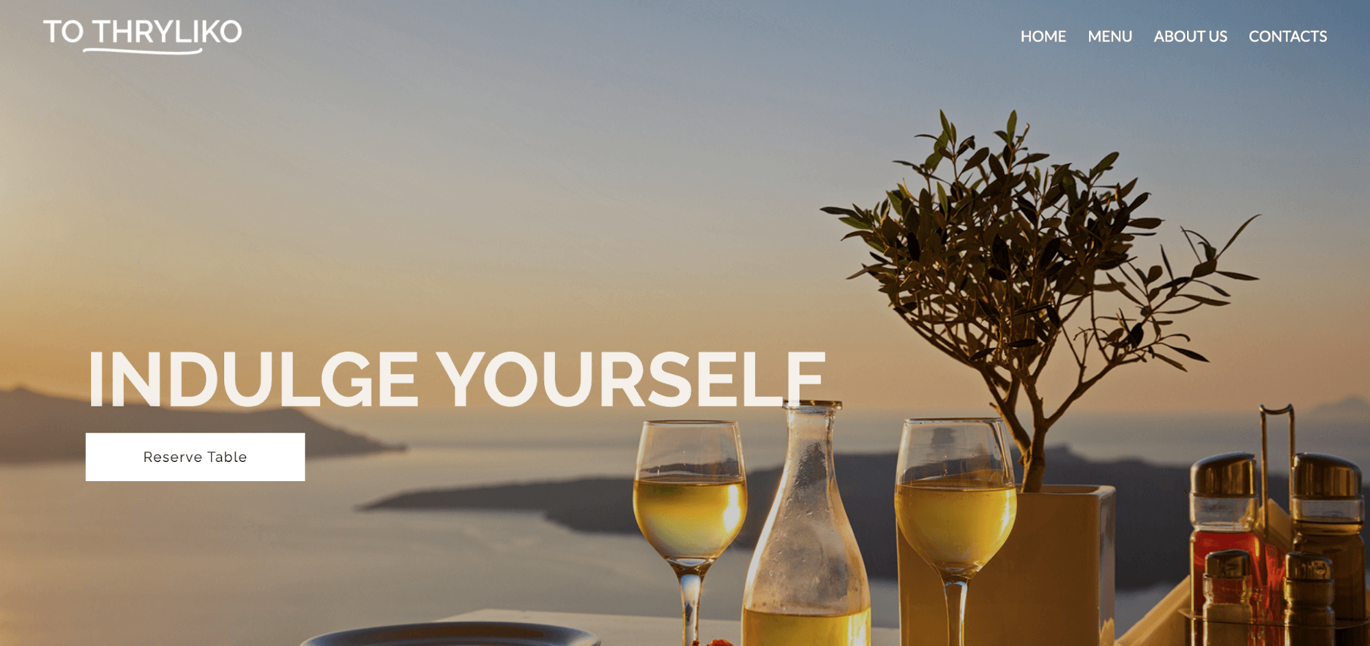 ToThryliko-restaurant website template-ucraft