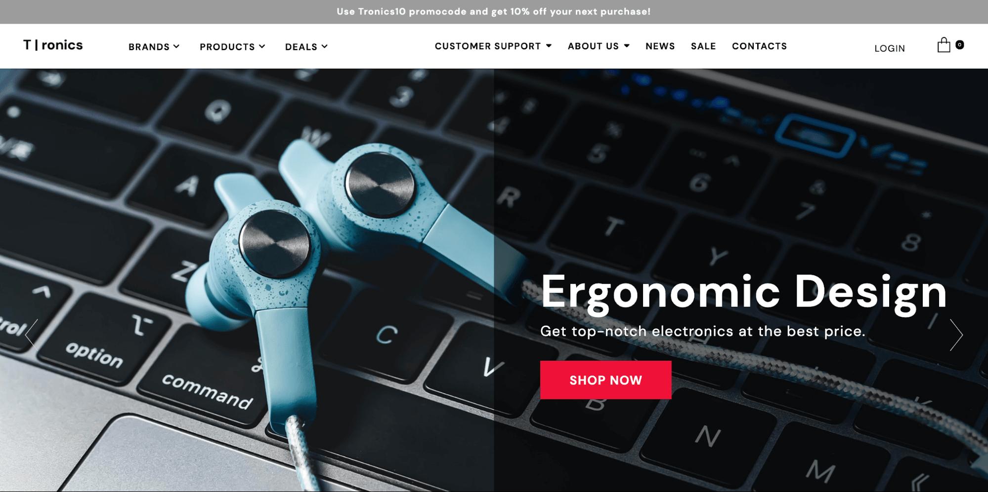 Tronics-online store template-ucraft